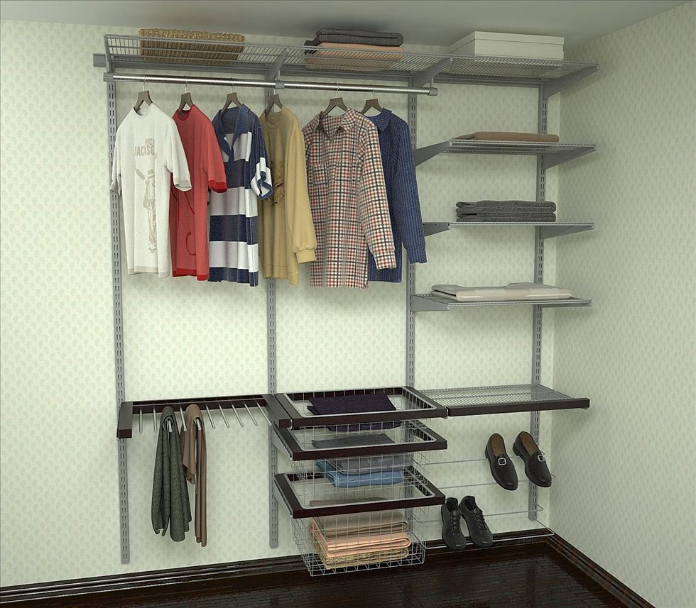 Модульная гардеробная система своими руками