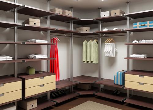 Открытые гардеробные системы