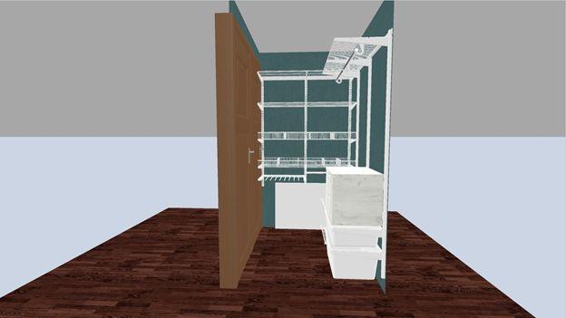 макет гардеробной комнаты