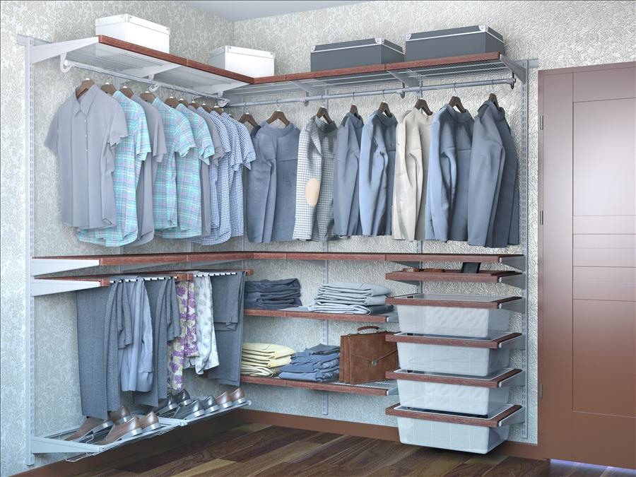 шведская гардеробная система