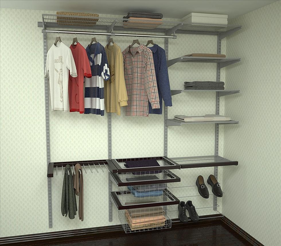 пример гардеробной комнаты на фото
